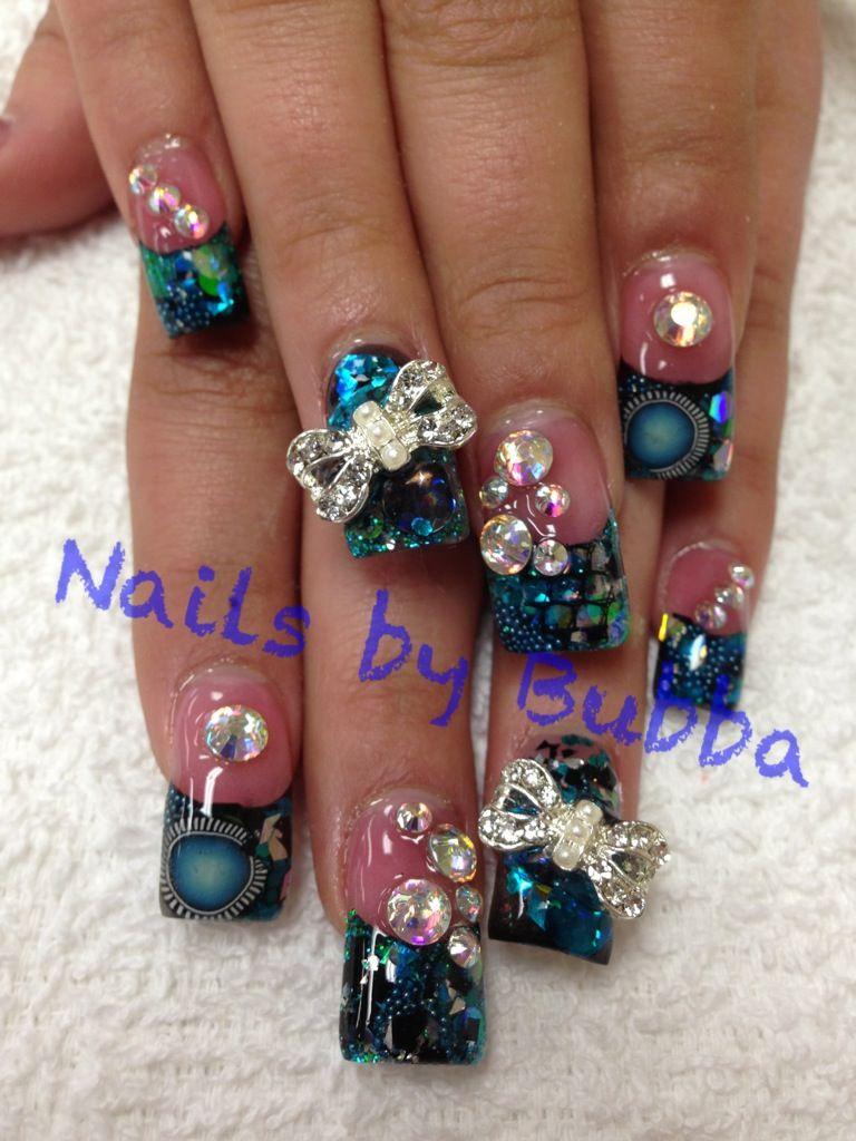 Nails by bubba @ shear Diva salon Visalia, CA | nails I do<3 | Pinterest