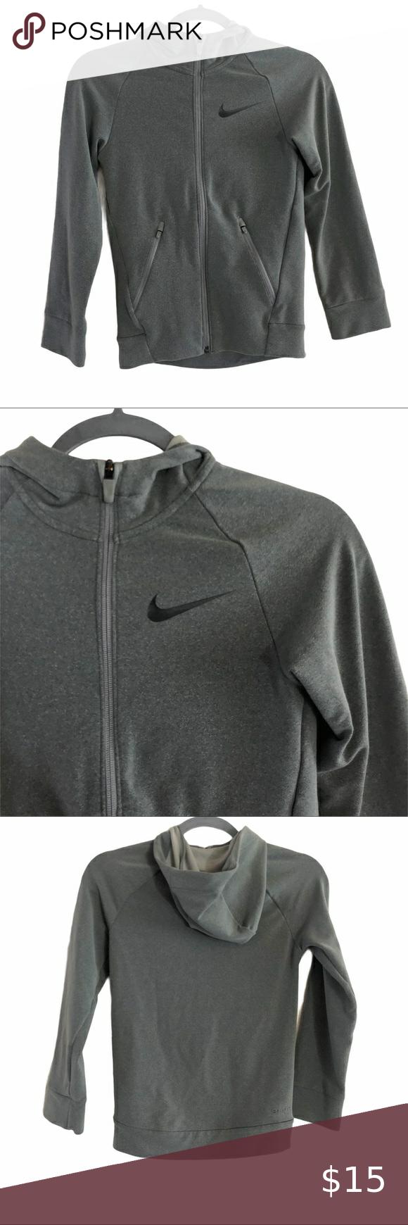Nike Kids Dri Fit Gray Hoodie Size Small Grey Hoodie Nike Kids Hoodies [ 1740 x 580 Pixel ]