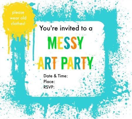 Art Party Invitations Template – Art Party Invitation Templates