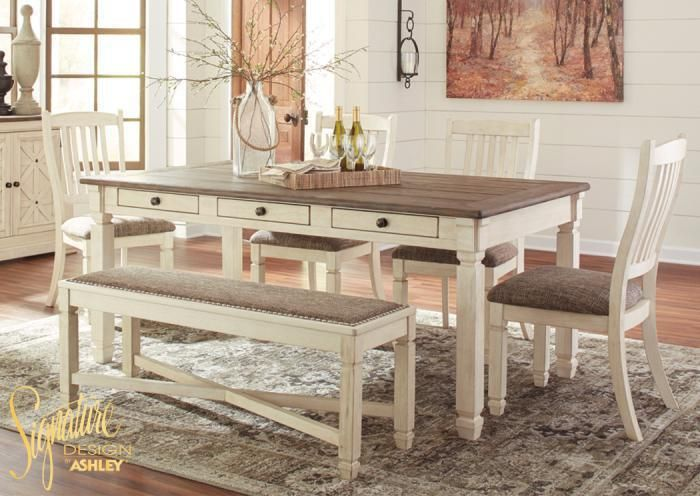 Home Furniture Plus Bedding Bolanburg 6 pc dining room