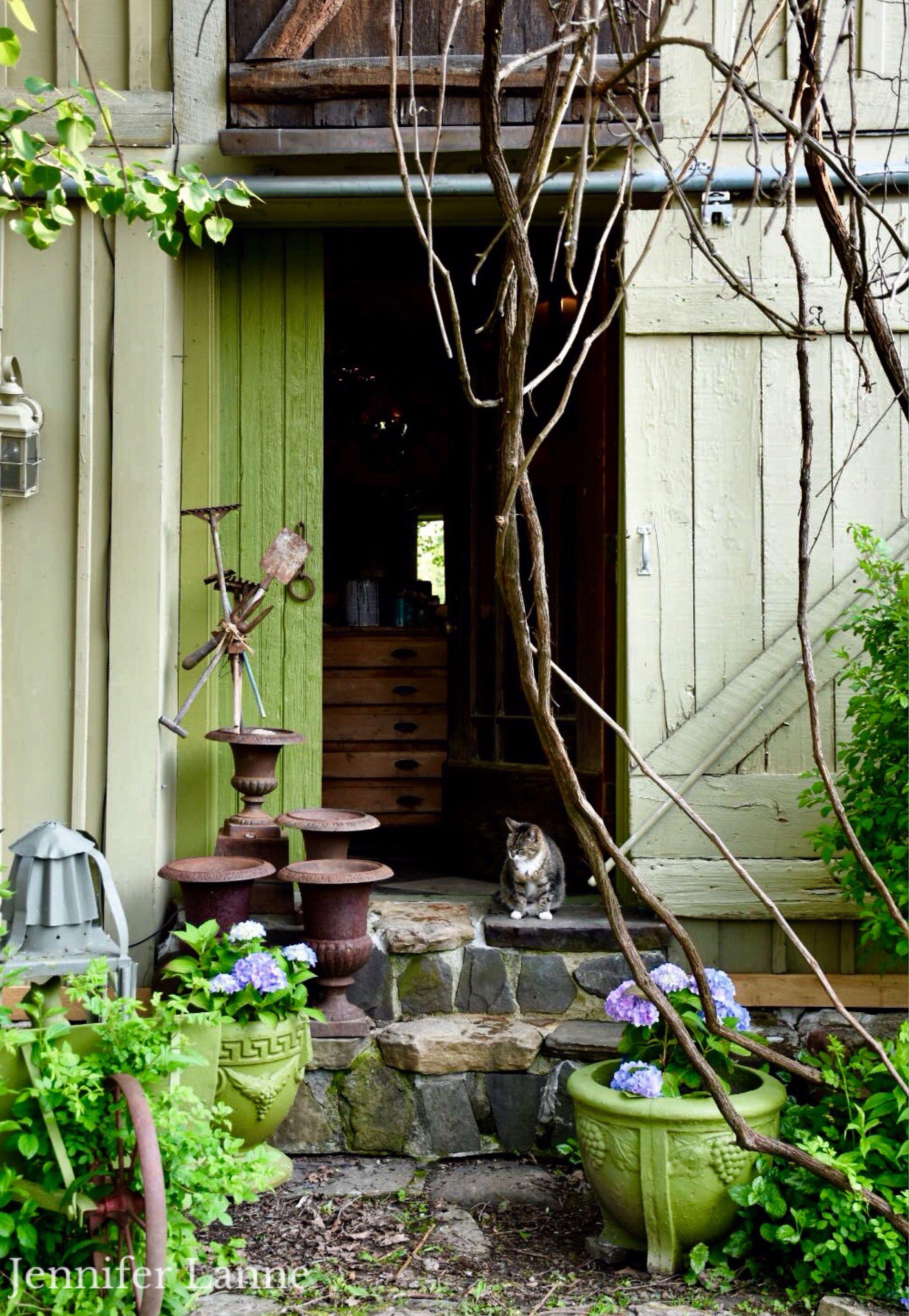 Barn Studio With Stone Steps