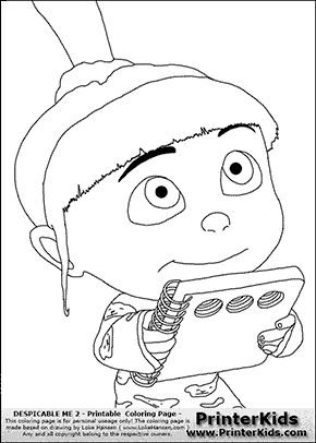 despicable me 2 agnes bedtime story coloring page coloring page