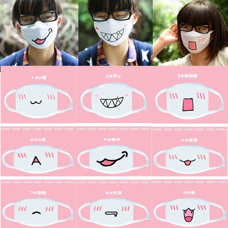 1pc Cute Kawaii Anime Emotiction Mouth Muffle Kaomoji Anti Dust Face Mask Mouth Mask Fashion Kawaii Clothes Kawaii Faces