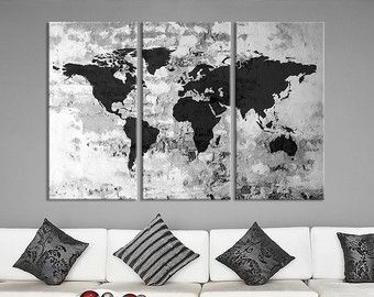 Watercolor world map canvas print large world by extralargewallart watercolor world map canvas print large world by extralargewallart gumiabroncs Choice Image