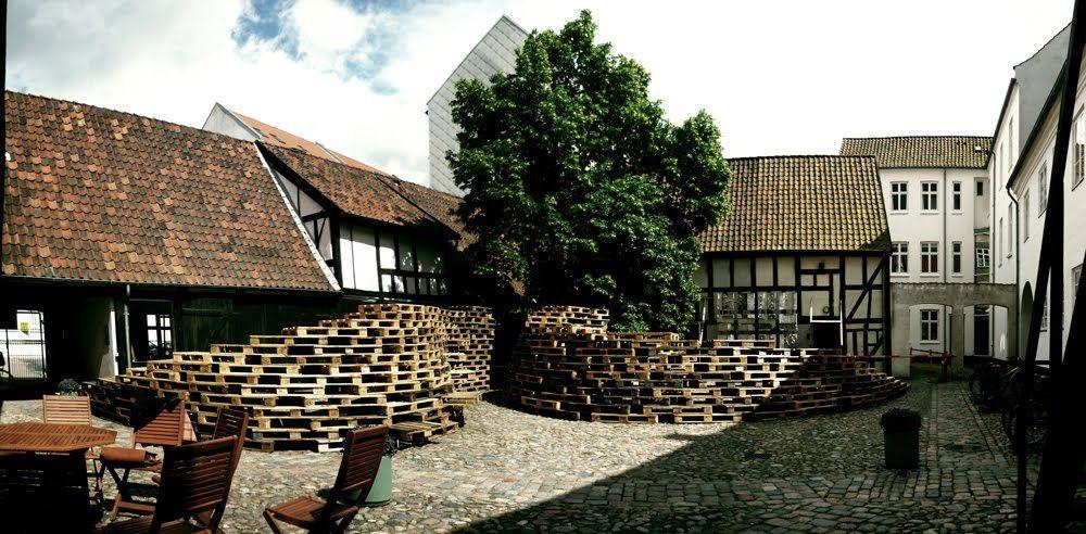 temporary pavilion at the aarhus school of architecture aarhus