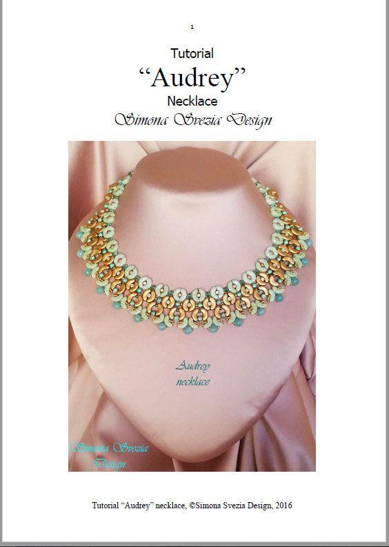 Tutorial Audrey necklace / collana di PerlineeBijoux su Etsy