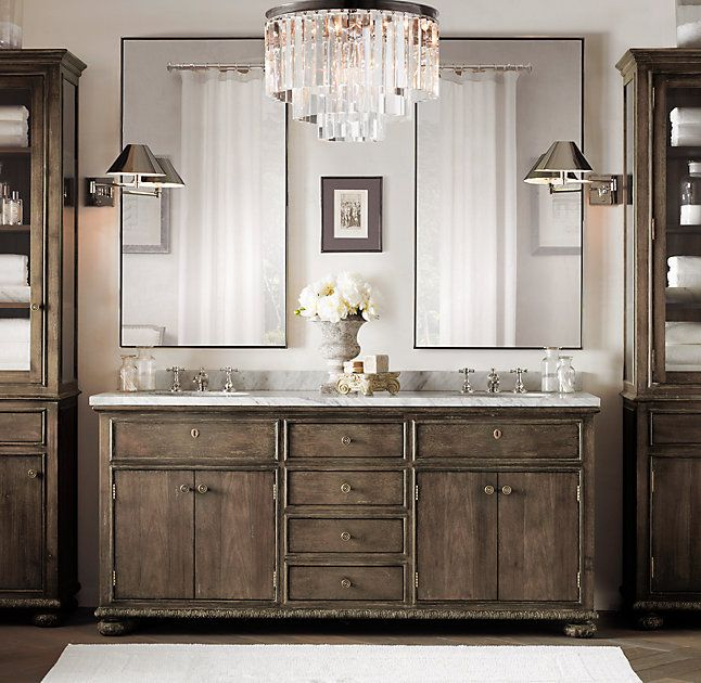 French Empire Double Vanity With