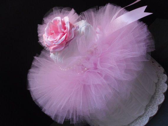Princess Daisy Diaper | Baby Shower Diaper Cake Pink Princess Tutu  Centerpiece Matching Headb .