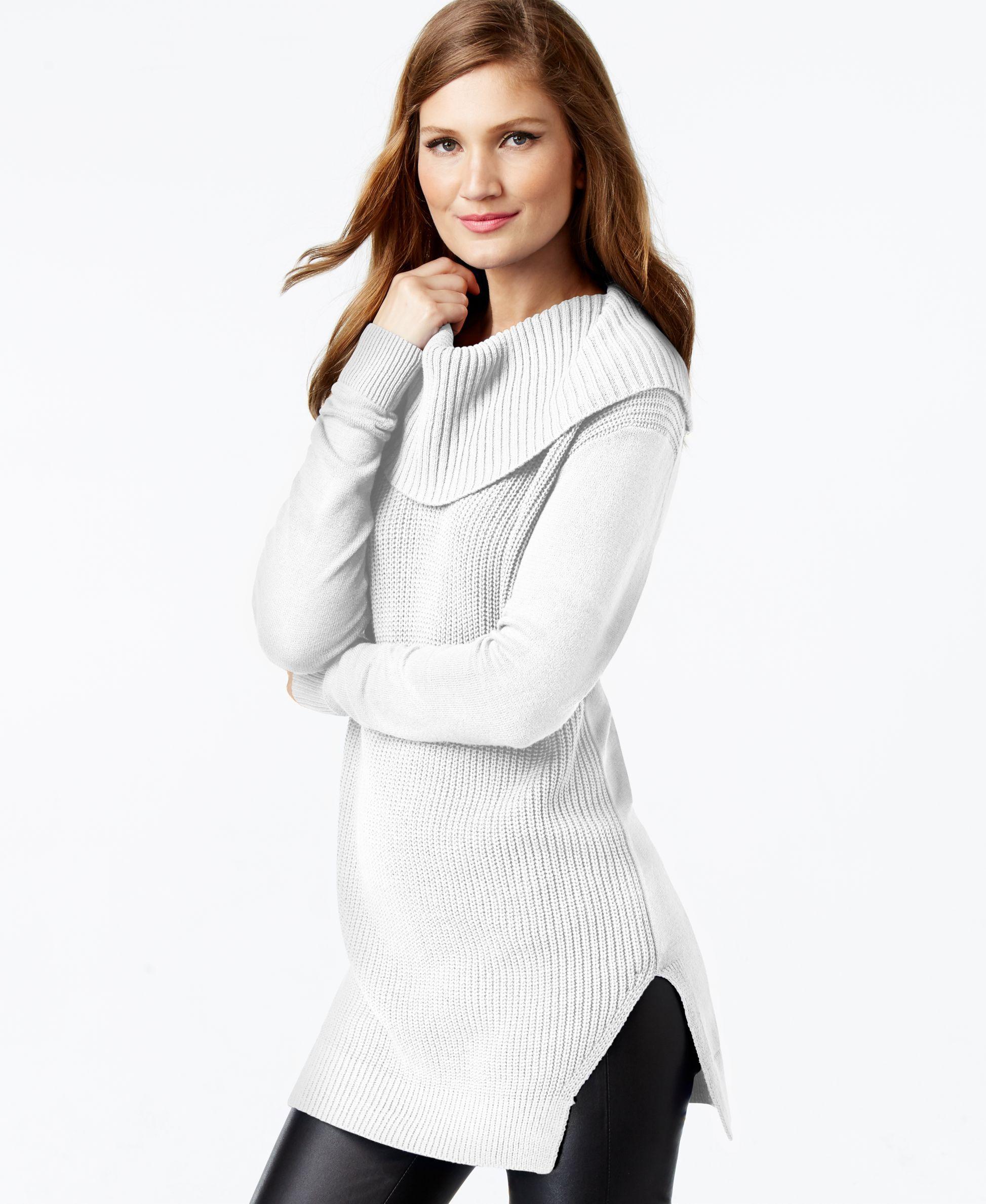 Michael Michael Kors Mixed-Knit Tunic Sweater