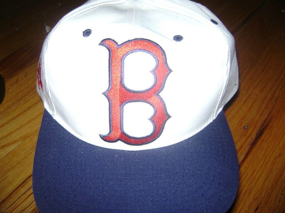 Boston Red Sox Hat Cap Baseball Snapback White Vintage 90 s One Size   TwinsEnterprisesInc  BostonRedSox 0aa76274939c