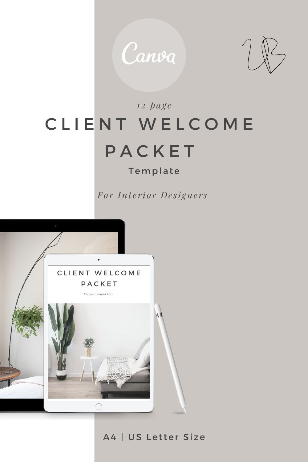Client Welcome Packet Canva Template Client Intro Template Etsy In 2020 Interior Design Business Interior Design Process Design Clients