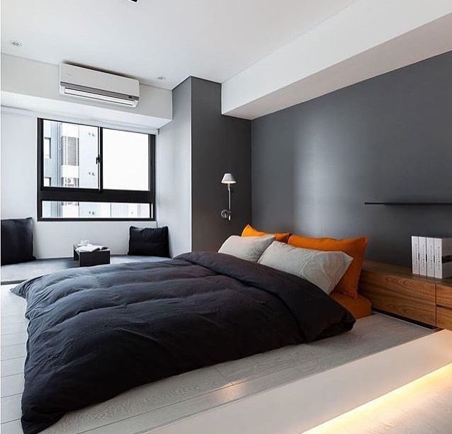 Pin by Theodor Cristian Barbu on bedroom apartment ideas Pinterest In 2019 - Contemporary Mens Bedroom Ideas HD
