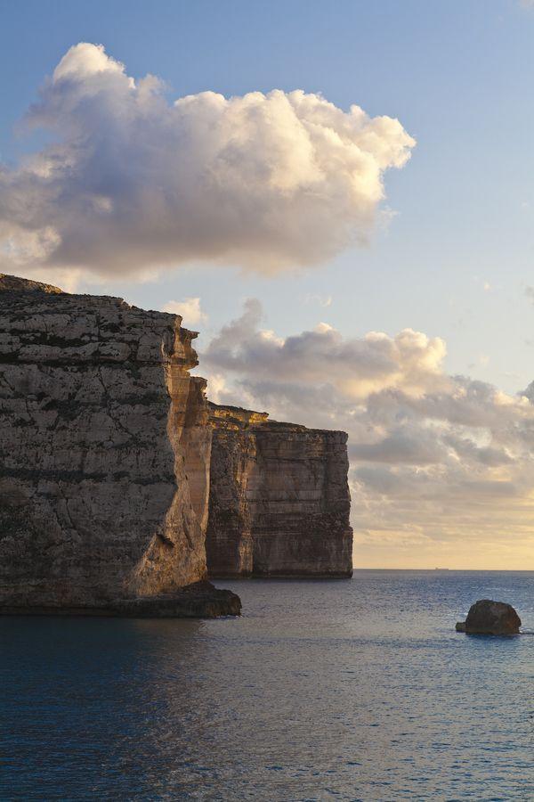 Gozo Cliffs at Sunset, Malta