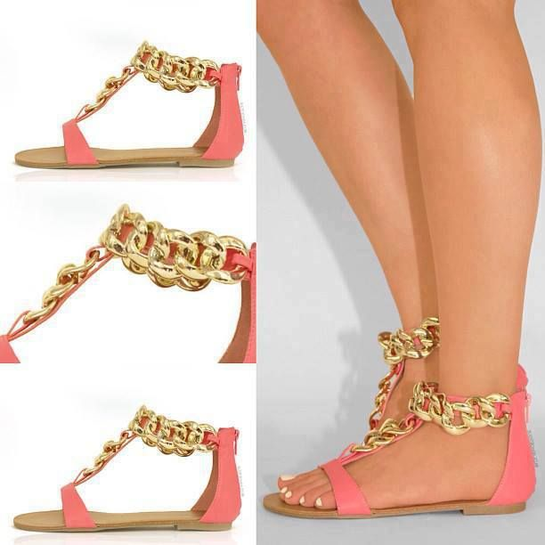 Gold Linked Chain Sandals