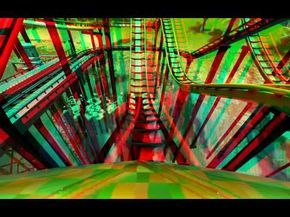 3D - Roller Coaster Tycoon 3 - Stereo 3D anaglyph Test Red