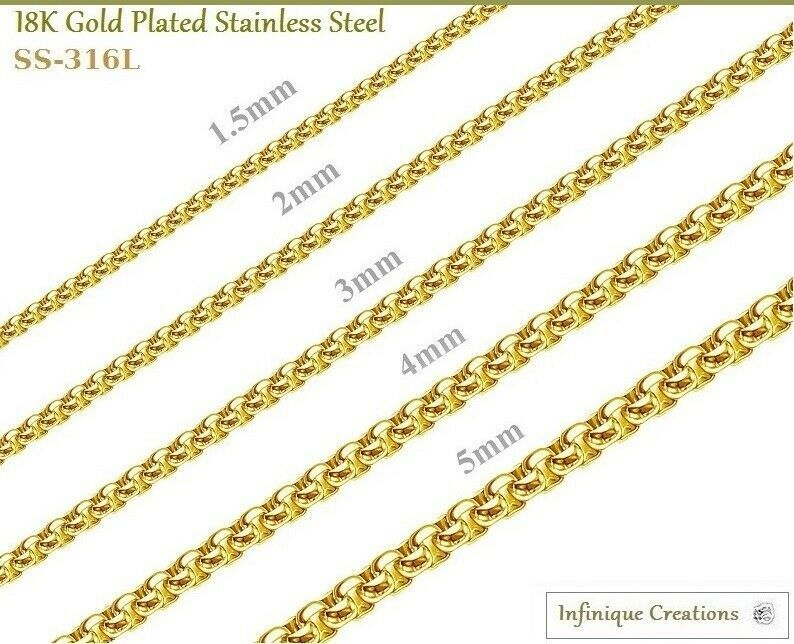 316l stainless steel 18k gold plating bedeutung