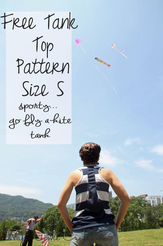 free tank top pattern | Schnittmuster, Muster und Muster Für Tops