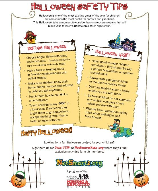 halloween safety tips - Halloween Party Rules