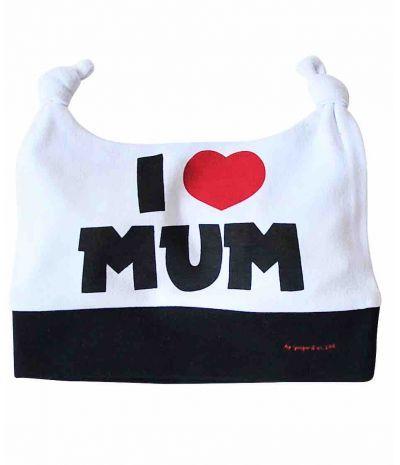 Bonnet bébé I LOVE MUM Cadeau Naissance Original, Originaux, Cadeaux Pour  Bébé 966dd05efac