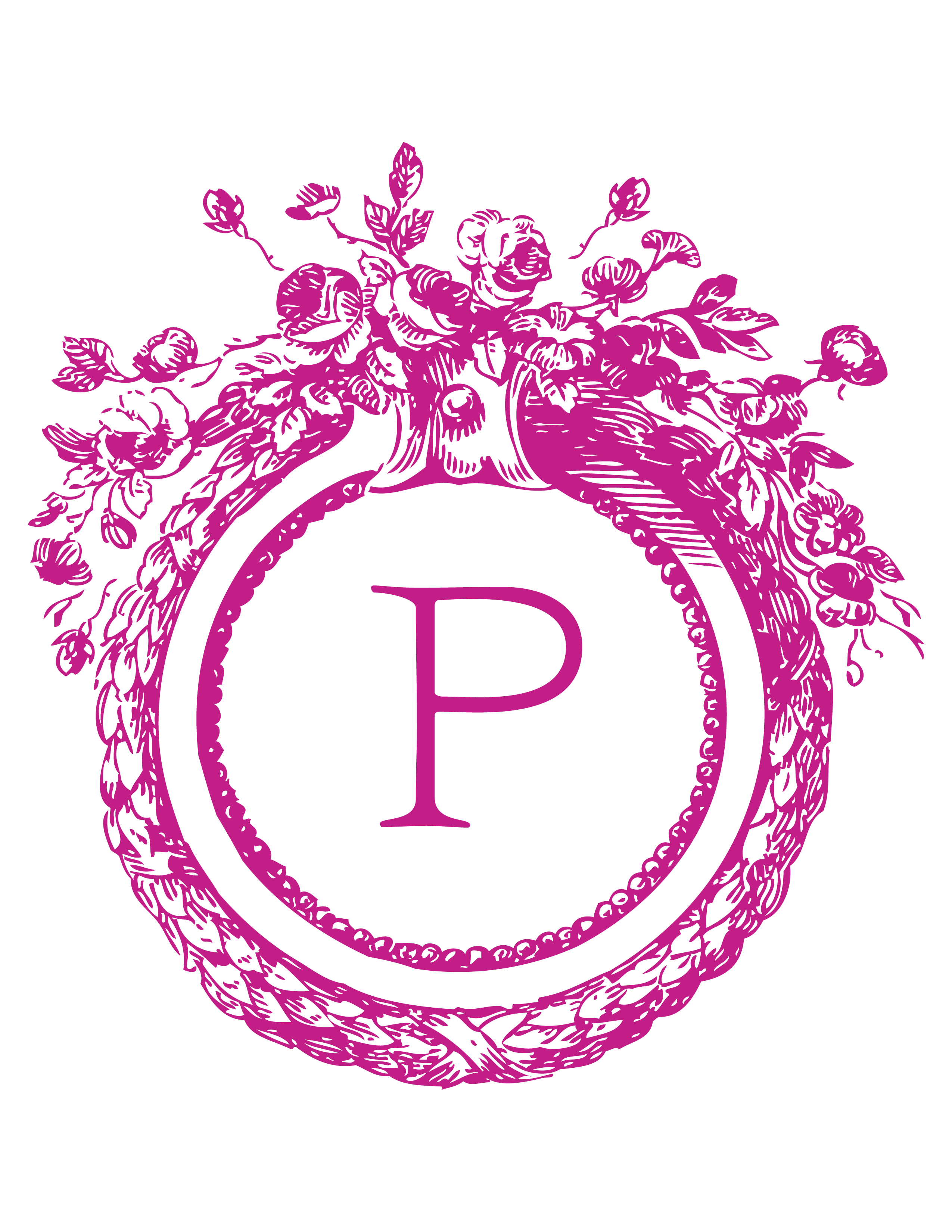 Corona. | P .... DE PAULA. | Pinterest | Hot pink, Monograms and ...