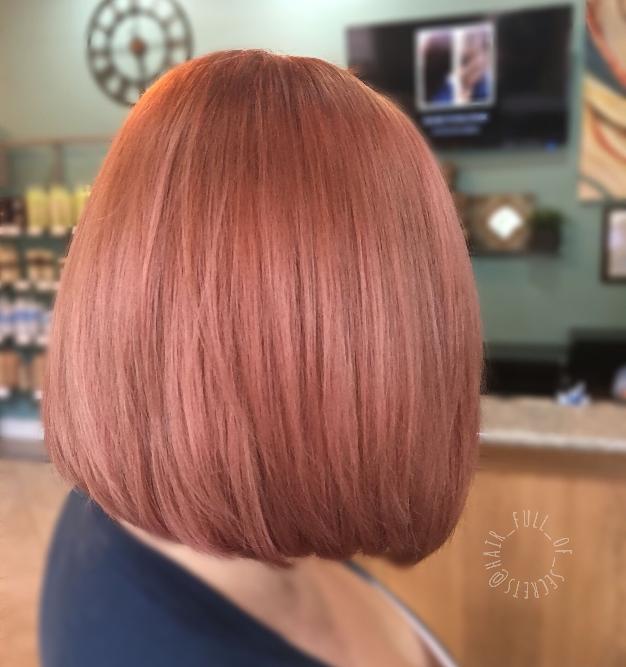 Rose gold hair by Melissa Carlucci • IG hair full of secrets