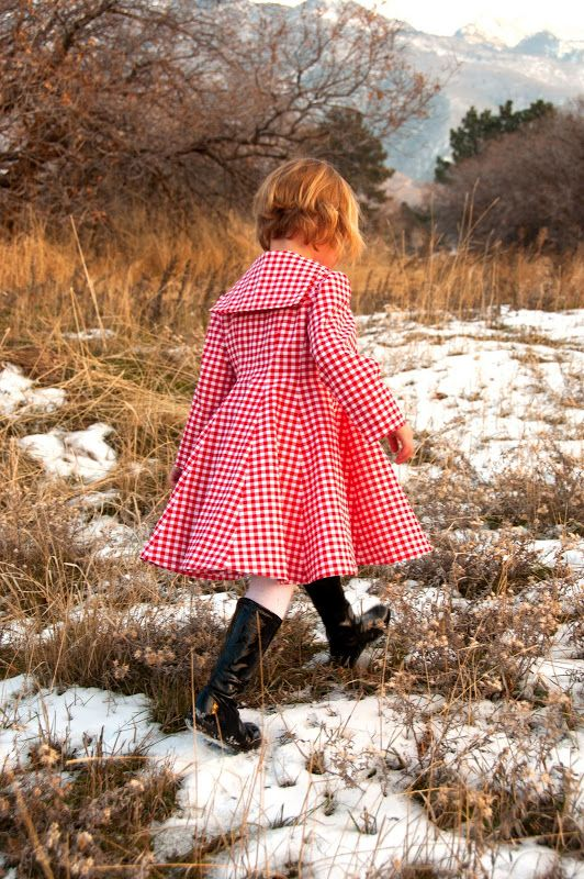 girl s dress made from a vintage sewing pattern original pattern was for a coat aesthetic nest sewing scarlett s christmas dress