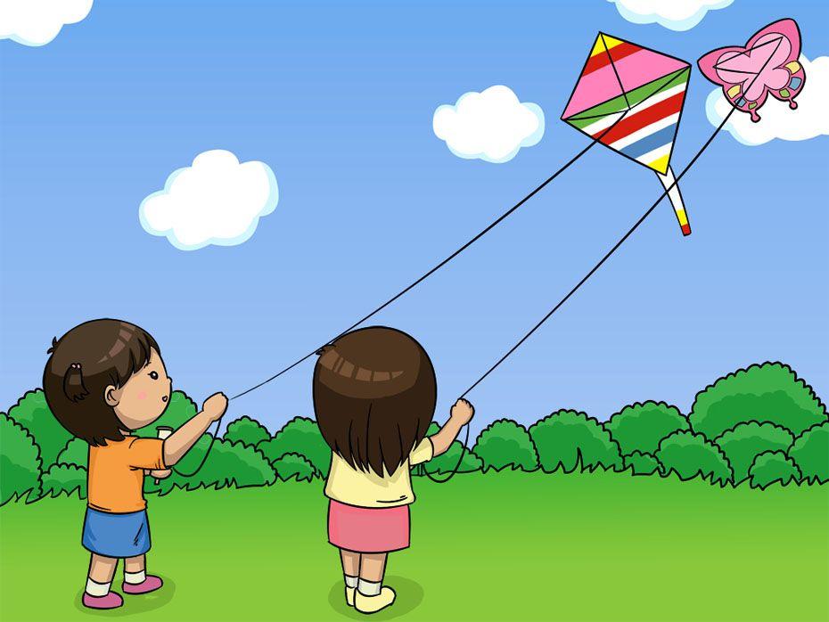 flying kite illustration - photo #19