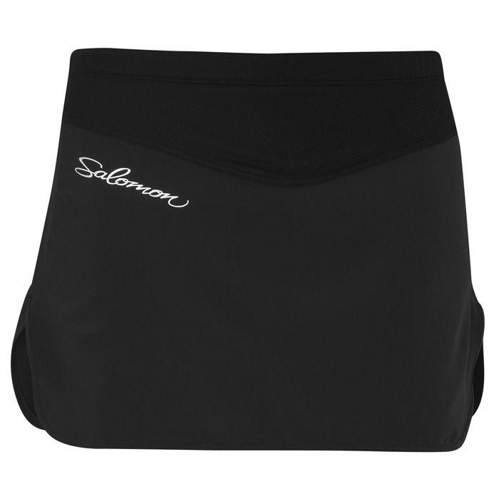 Salomon XA Series Twinskin Skirt (Women's) - Running Shorts & Tights - Rock/Creek