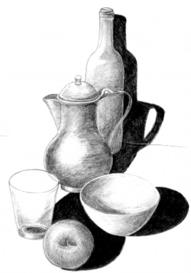 10 Ideas Para Comenzar A Dibujar Bodegones 9 Art Drawings Simple Still Life Drawing Easy Still Life Drawing