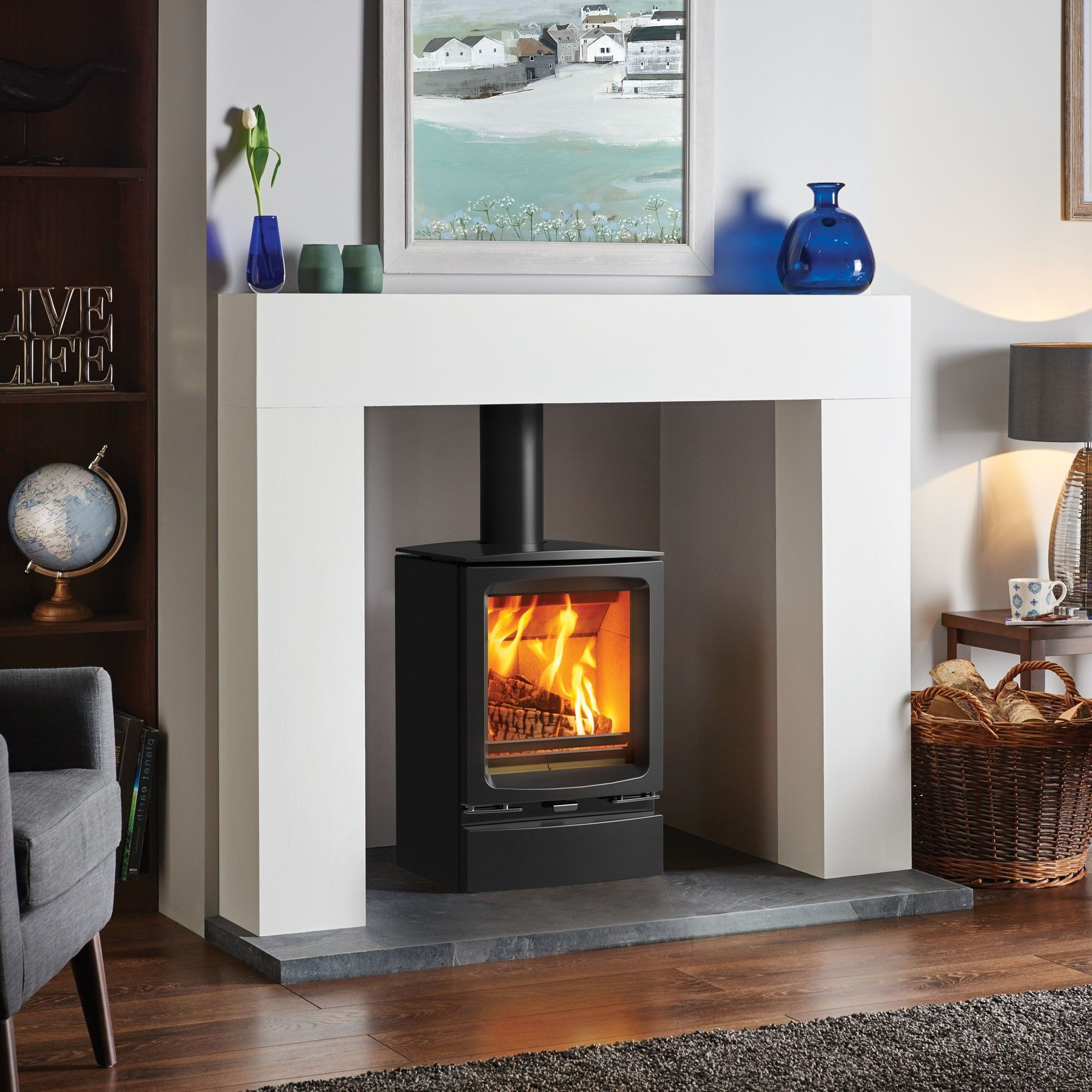 modern fire surrounds for wood burners google search pinteres