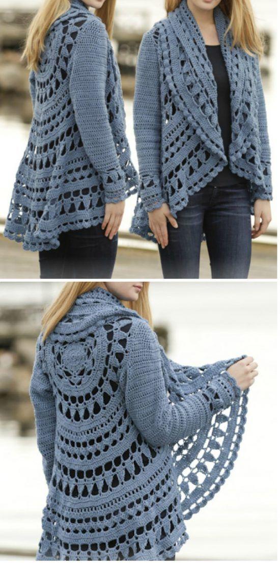 DIY Crochet Lace Jacket Pattern Ideas | Trabajo para, Boleros y Dos ...