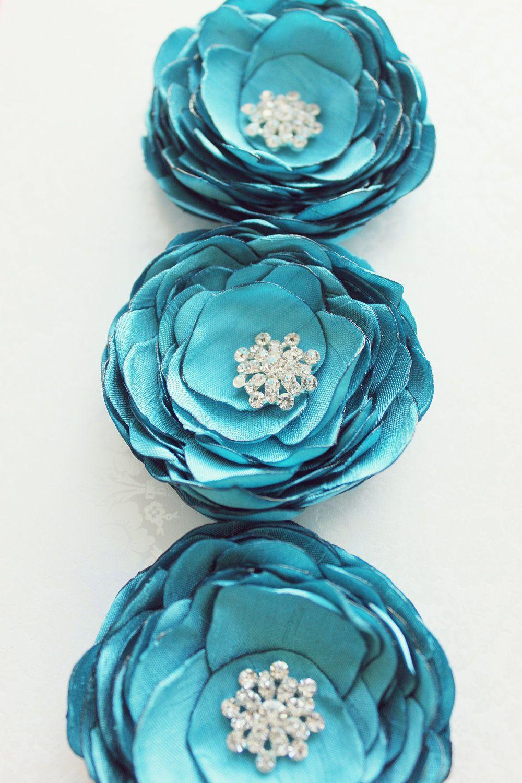 Wedding hair clip tiffany blue flower bridal accessory fa my wedding hair clip tiffany blue flower bridal accessory fascinator bridesmaid 2920 via etsy izmirmasajfo