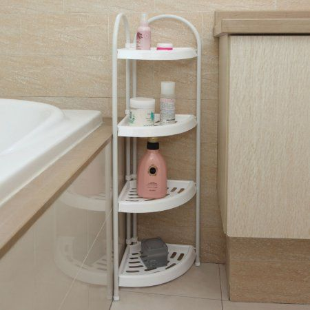 4 Tier Corner Caddy Rack Holder Shelf Shower Storage Bathroom Organizer W Handle