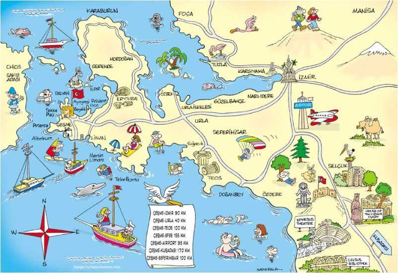 gzelbahe izmir harita Googleda Ara ZMR Pinterest Izmir