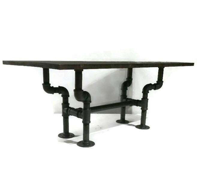 Popular Rustic Industrial Pipe Coffee Table STEAMPUNK Style Furniture Pipe Furniture by WutNotz on Etsy New Design - Luxury pipe coffee table Luxury