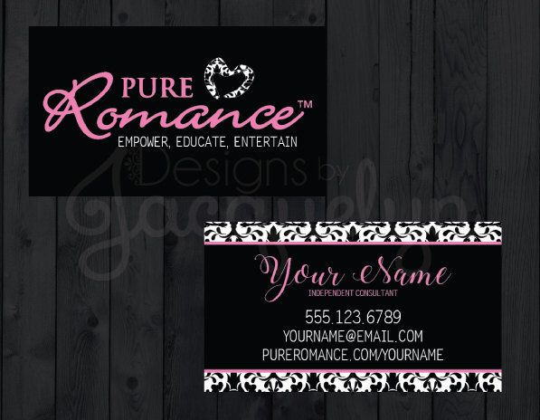 pure romance consultant business cards choose a pattern printed by mycrazydesigns on etsy https - Pure Romance Business Cards