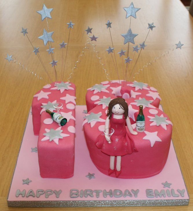 18th Birthday Cakes For Girls 253x300 Food Pinterest 18th