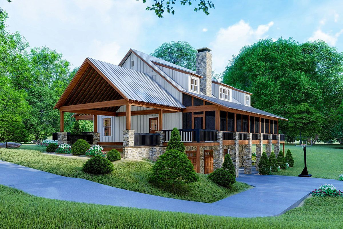 Plan 70625mk Beautiful Farmhouse Plan With Carport And Drive Under Garage Country Style House Plans Farmhouse Plans Architectural Design House Plans