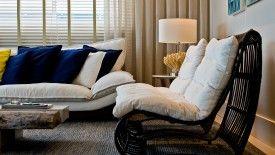 Projeto de sala de estar da arquiteta Denise Leal Ribas. / Foto: divulgação.