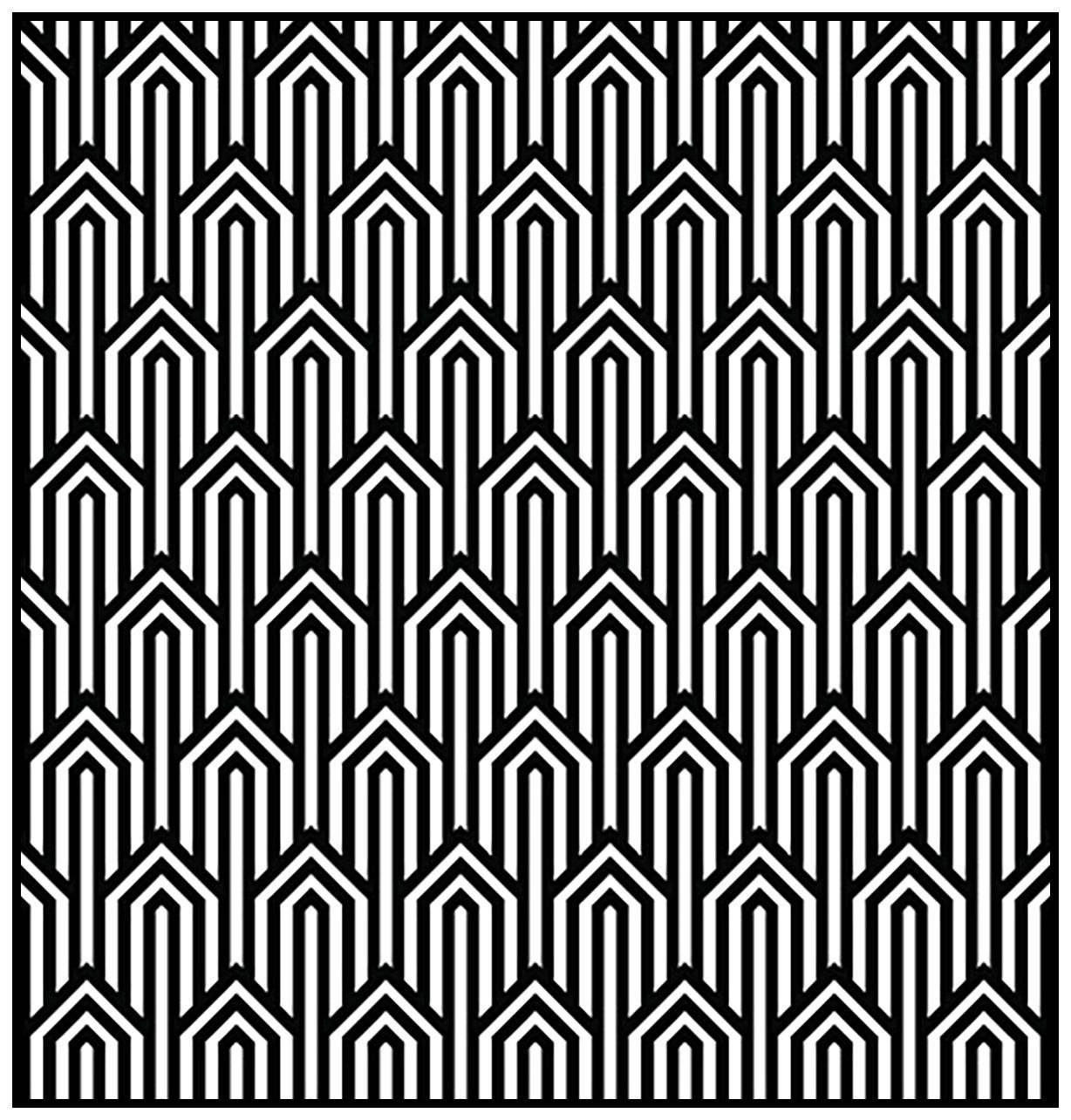 Geometric Patterns Art Deco 1 Art Deco Coloring Pages For Adults