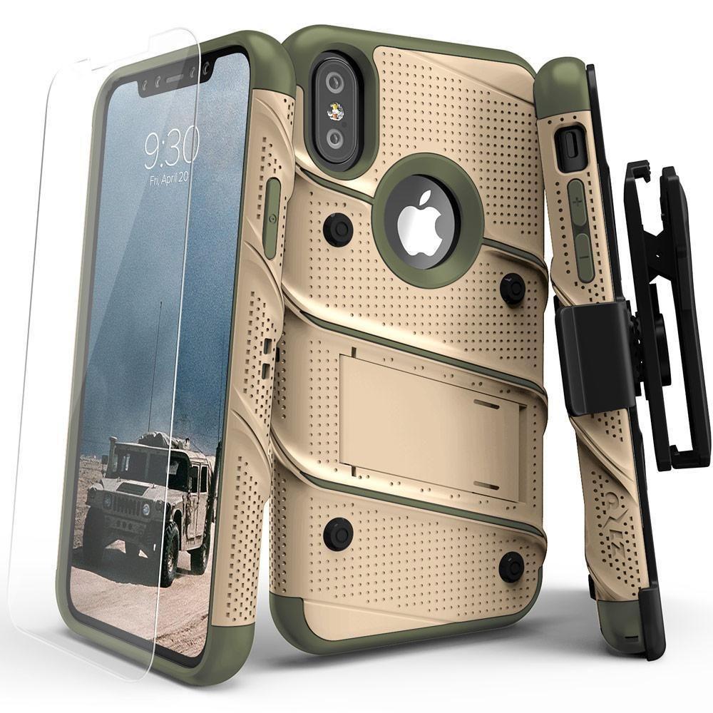 Zizo bolt iphone x xs case holster combo desert tan