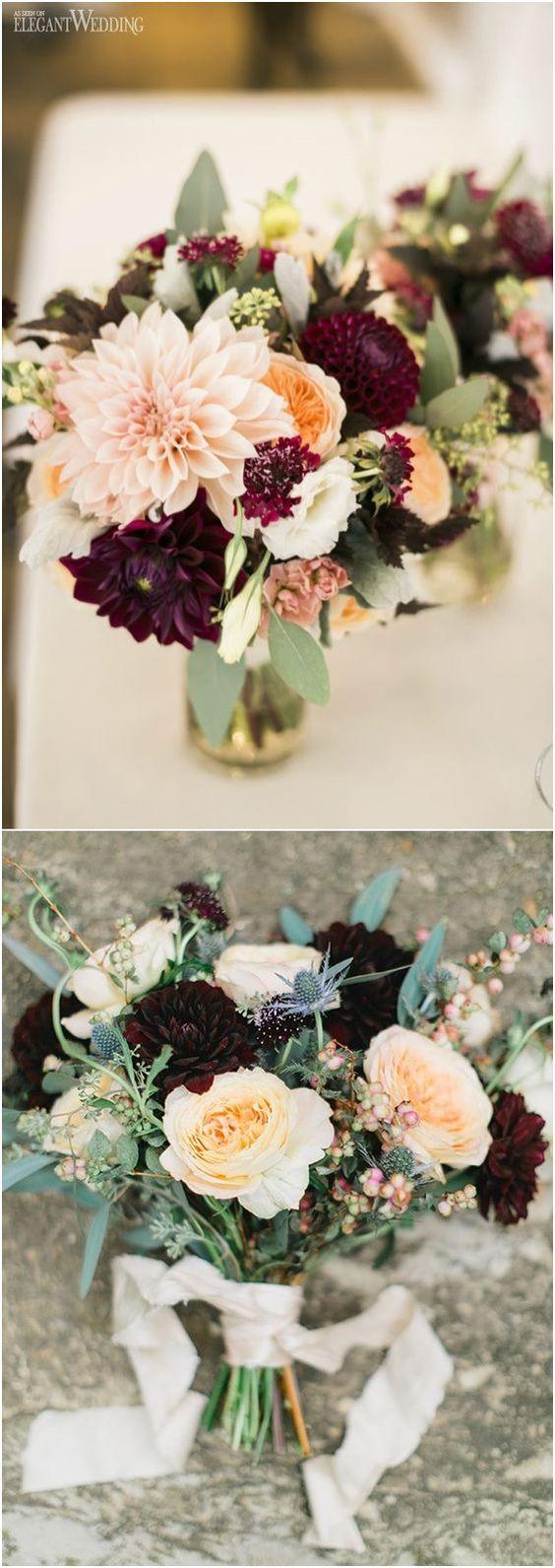 40 Burgundy Wedding Bouquets For Fall Winter Wedding Creative