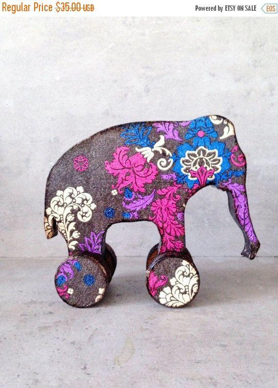 EN venta vivero decoración elefante bebé ducha étnicos por Grimme