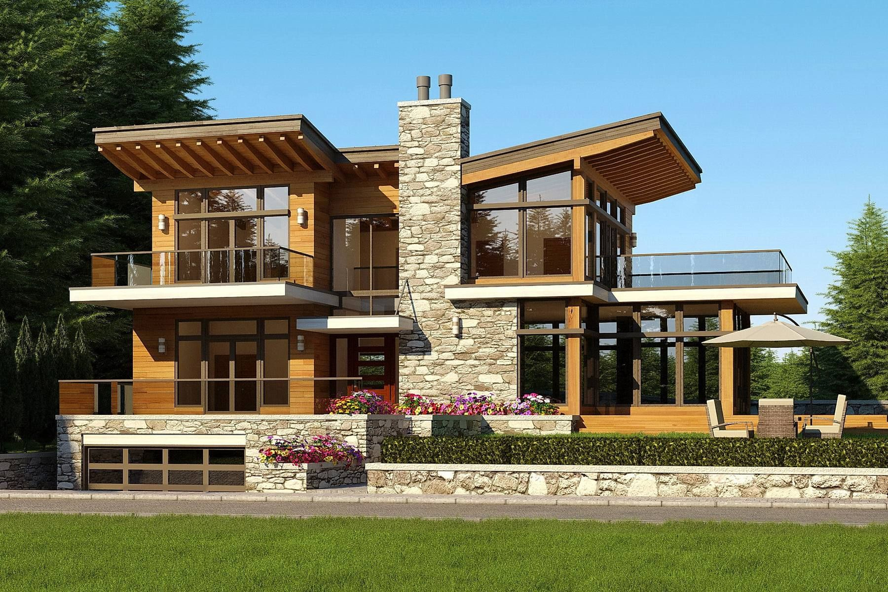Alpine On Residential Architect Vancouver Total Area 4500 Sq Ft Construction Type Modern Roof Design Contemporary House Exterior Contemporary House Design