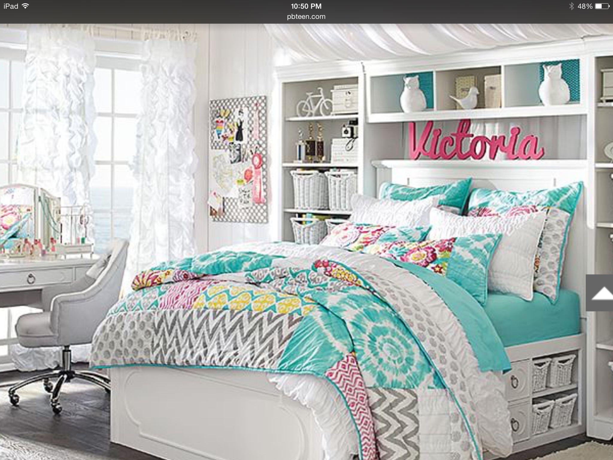 Teen victoria bedroom decoration decorasion de cuartos - Teenage bedroom furniture with desks ...
