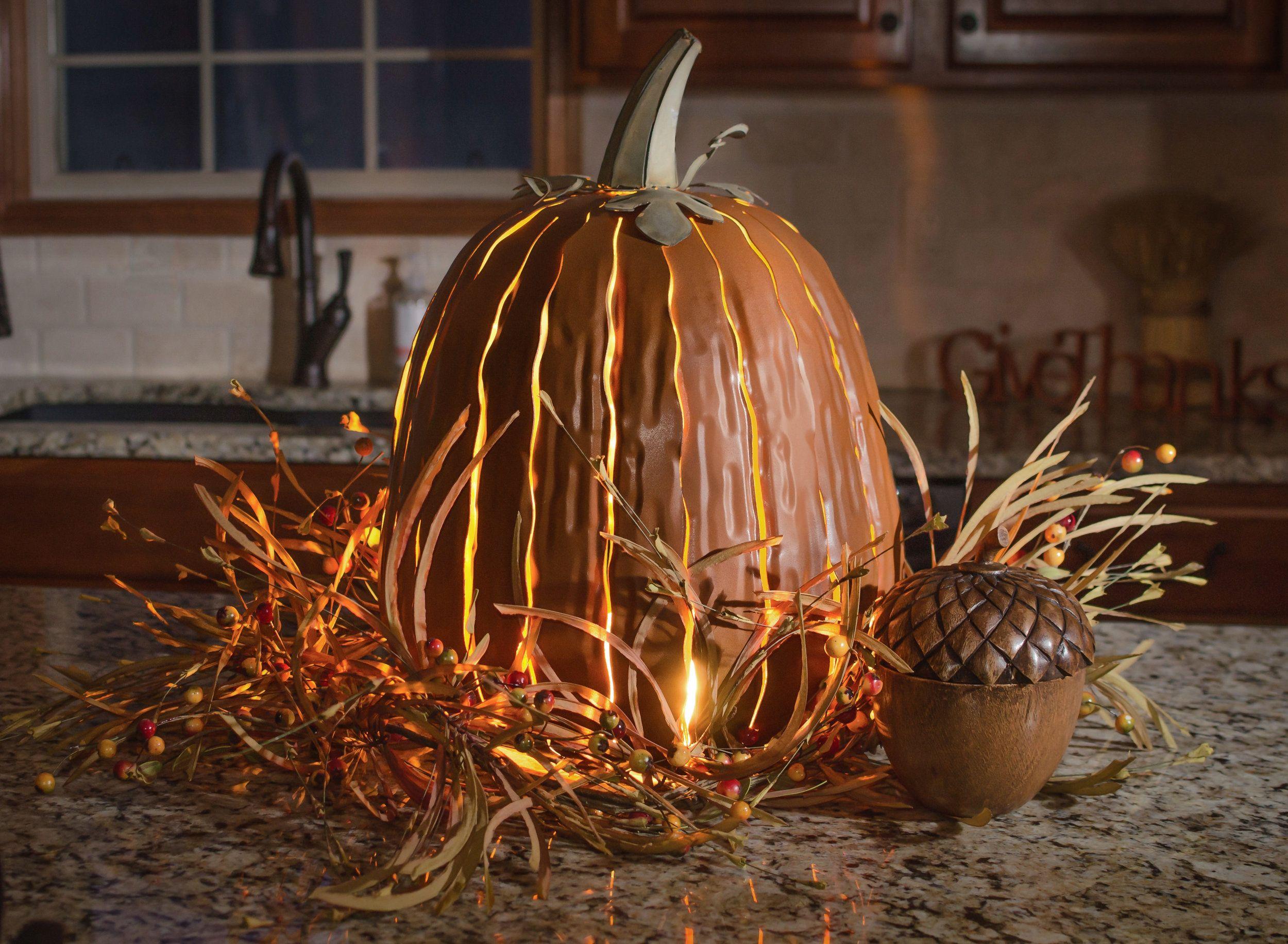 Tall pumpkin luminary in 2018 Favorites Mine