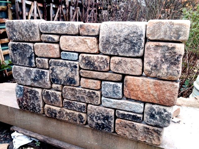 Tumbled And Blackened Natural Sandstone Walling Natural Building Stone Walling Sandstone Wall