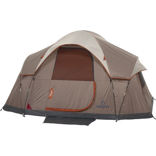 3 season tents sleep 6 door window 1 new mesh 6 feet center water fire resistant  sc 1 st  Pinterest & Image for Magellan Outdoors™ Dakota 6P Cabin Tent from Academy ...