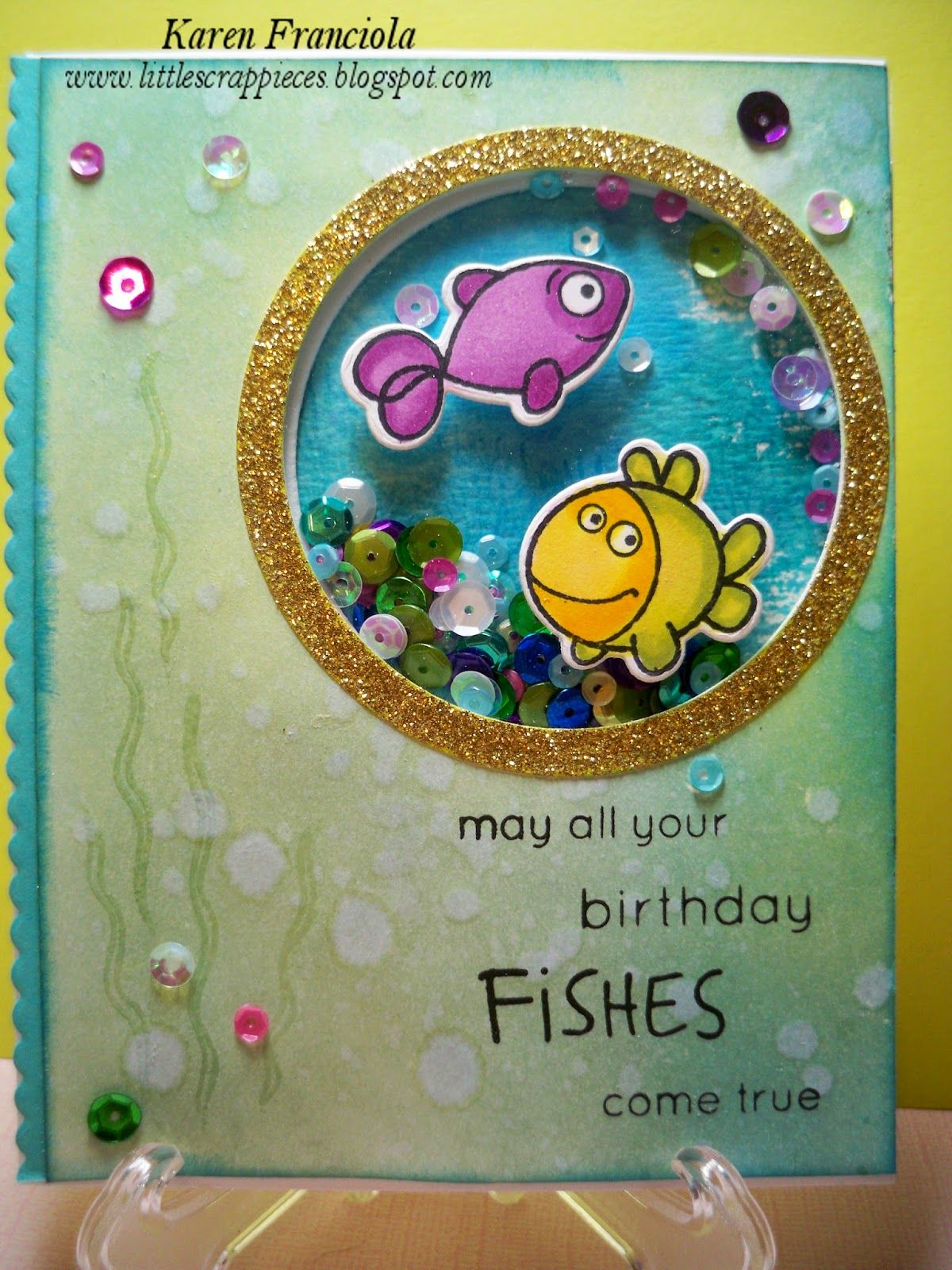 Little Scrap Pieces Winner And May All Your Birthday Fishes Come