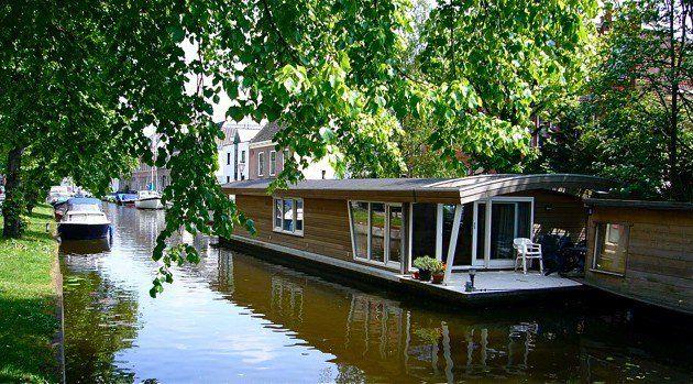 Amazing Houseboat Moored In Idyllic Surroundings In Leiden The